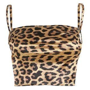 Tops - Leopard Print Crop Top